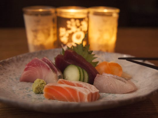 A Sashimi Moriawase is shown at the Royal Izakaya Restaurant