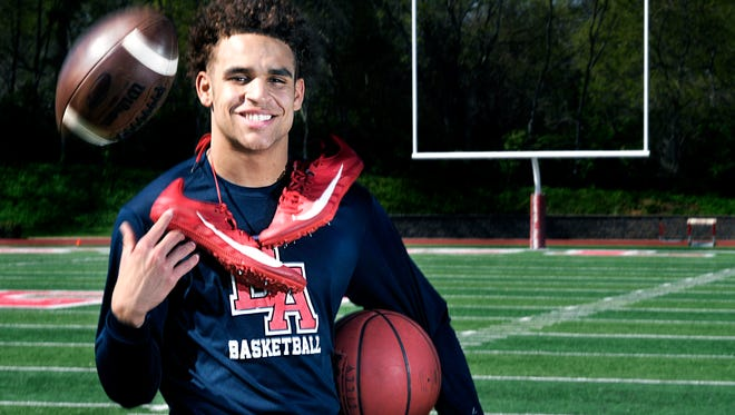 Brentwood Academy athlete Camron Johnson plays sports; football, track and basketball and  is one of the winningest athletes in TSSAA history.