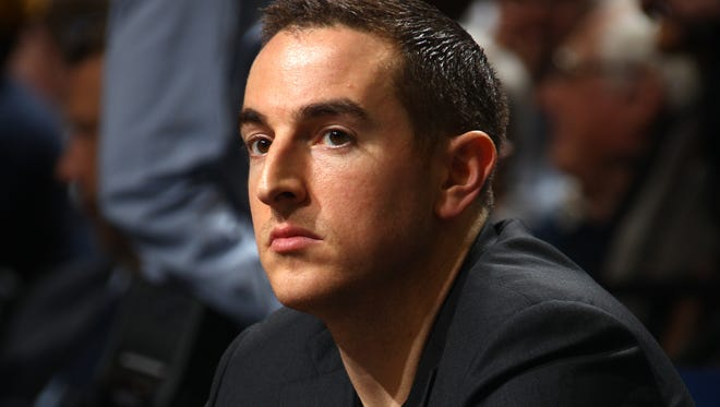 December 26, 2014 -  Memphis Grizzlies controlling owner Robert Pera  watches the game against the Houston Rockets at FedExForum. (Nikki Boertman/The Commercial Appeal)