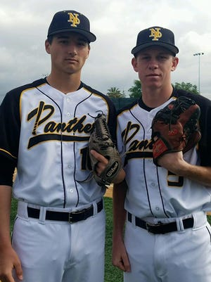 Carson Lambert, left, and Jake Miller give Newbury Park a powerful 1-2 punch at the top of the Panthers' rotation.