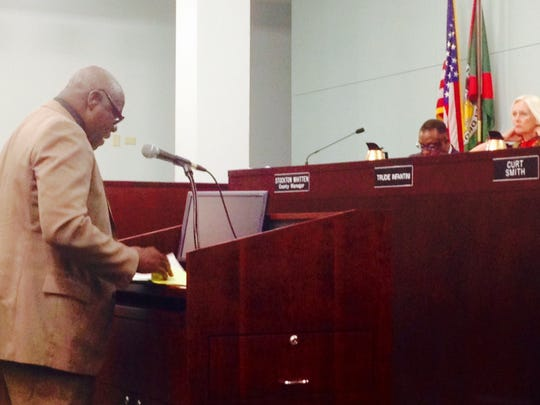 The Rev. Johnnie Dennis, told Brevard County commissioners