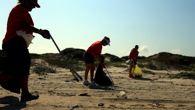 The Coastal Bend Bays Foundation hosts the first area Adopt-A-Beach of the year from 9 a.m. to noon Saturday, Feb. 11 along Packery Channel on Mustang Island.