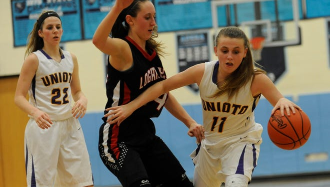 Jocie Fisher scored 19 points as Unioto defeated Zane Trace 78-18 on Tuesday.