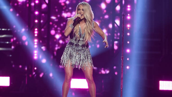 Carrie Underwood performed her new single 'Cry Pretty' at the Academy of Country Music Awards in Las Vegas.