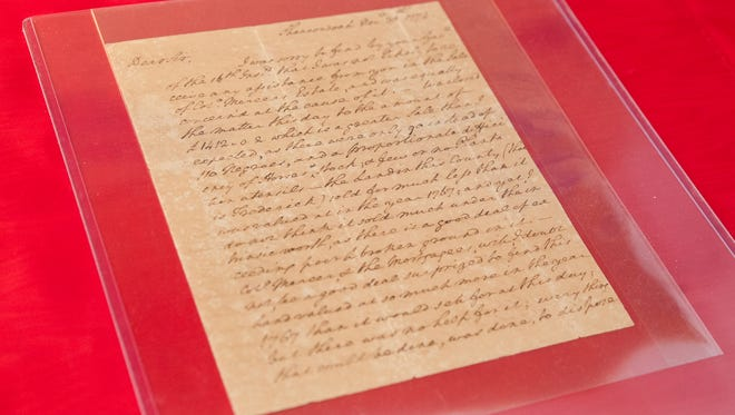 A signed letter from George Washington dated Nov. 30, 1774 about the auctioning of 90 slaves and the settling of an estate is among historic documents being auctioned this month by Cohasco, Inc. of Yonkers, Feb. 19, 2017.
