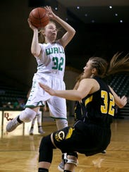 WallÕs Emmy Phillips goes up for a shot against the