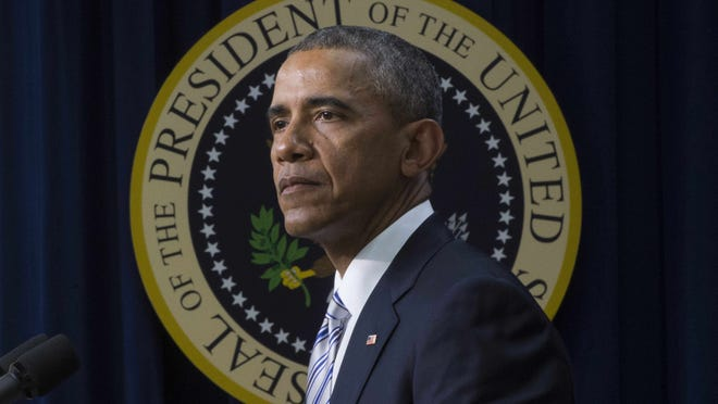 US President Barack Obama delivers remarks on countering violent extremism in Washington, D.C., February 18, 2015. Obama urged Western and Muslim leaders to unite to defeat the false promises of extremism, saying they must jointly reject the premise that jihadist groups represent Islam.