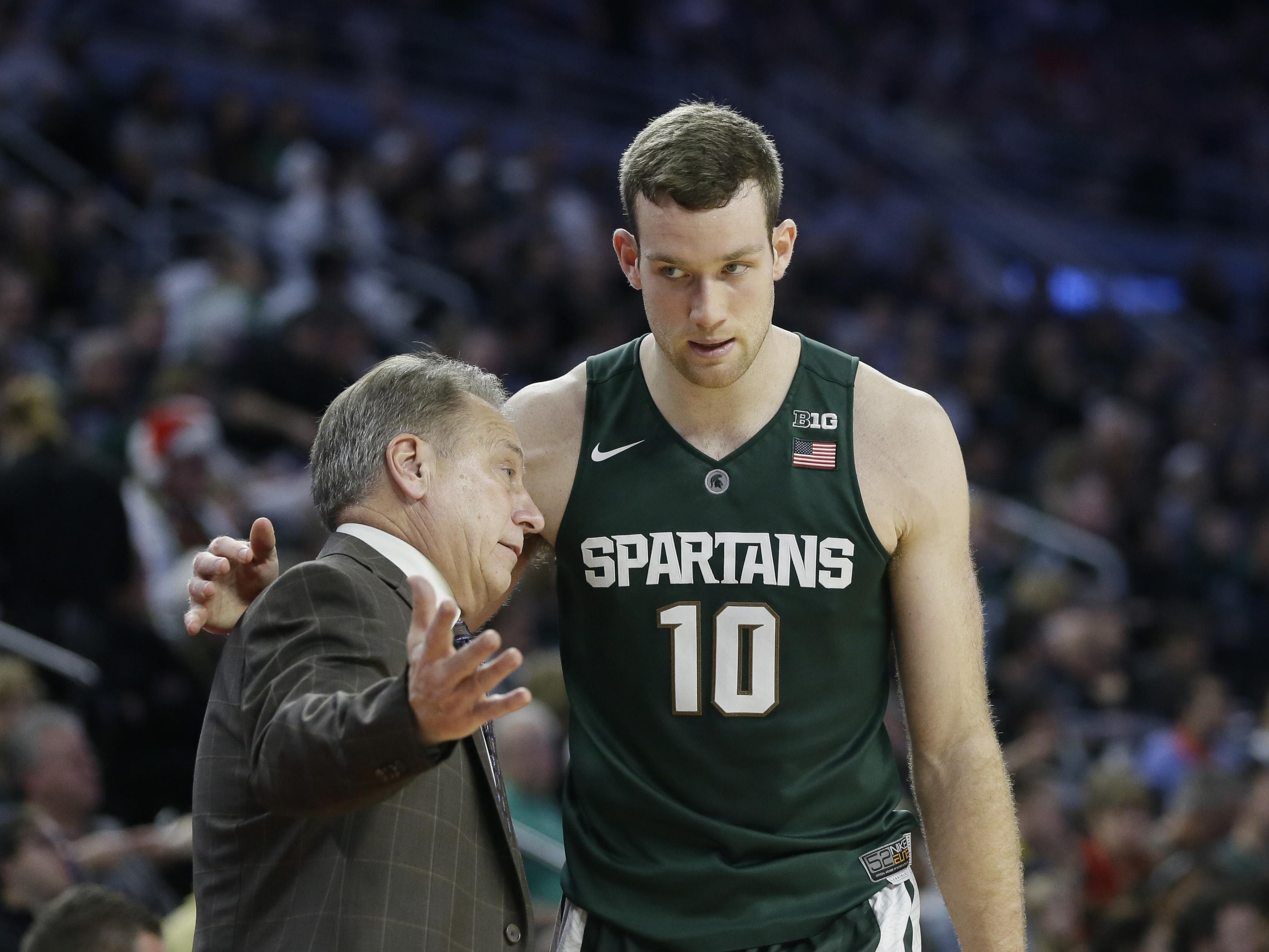 """Coach Tom Izzo said center Matt Costello needs to """"play with an edge more often,"""" but the Spartans need to go to him more."""