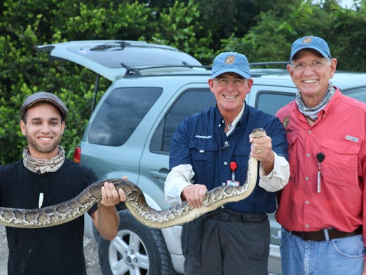 Rep. Francis Rooney went on a python hunt Thursday