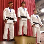Livonia's Nick Joseph (right), an incoming senior at Novi Detroit Catholic Central High School, captured a bronze medal in the IFJ Division (ages 18-20) at the USA Judo National Championships last Saturday in Irving, Tex. The 17-year-old Joseph, who trains under coach Noboru Saito out of the Birmingham YMCA, posted a 3-2 record, including three ippons (major wins). Last year, Joseph was ranked No. 1 in the Junior B Division (ages 15-17) at 66 kilograms before moving up to the 73 kilogram class on Friday were he placed fifth. Joseph is also a member of CC's varsity wrestling team.