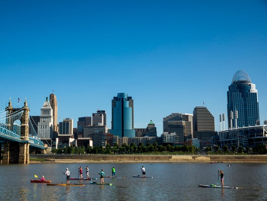More than 2,000 people participate in the Ohio River