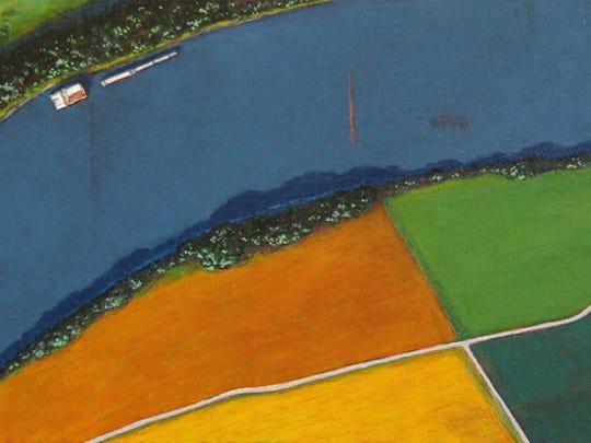 Ohio River Bend Newburgh by Dan-Annarino