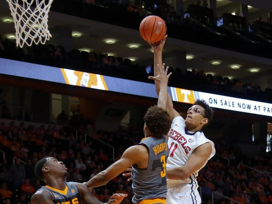 NCAA Basketball: Mississippi at Tennessee