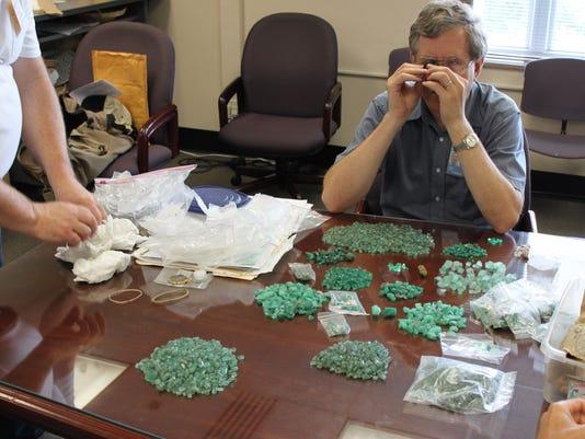 Jeff_examining_emeralds
