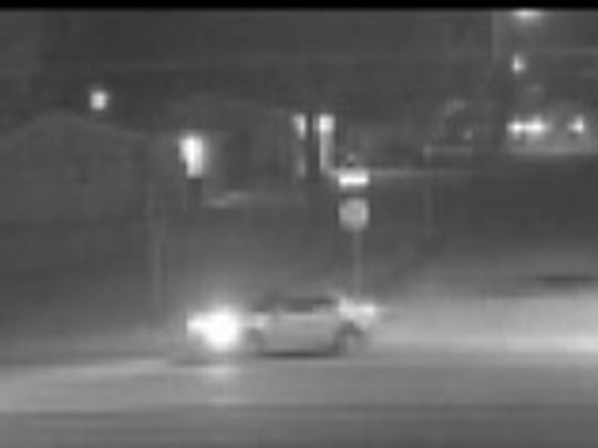 An image from surveillance video shows a vehicle Farmington police believe could be involved in Monday night's shooting.