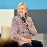 Hillary Clinton speaks onstage June 28, 2016, as Beautycon Media curates the first digital content creator town hall with Hillary Clinton at NeueHouse Los Angeles in Hollywood.