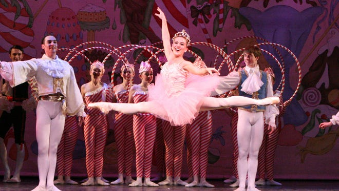 """Kelly Millar leaps across the stage during a performance of Vineland Regional Dance Company's """"The Nutcracker Ballet."""" This year's production will be presented Dec. 19 and 2 p.m. Dec. 20 in Vineland."""