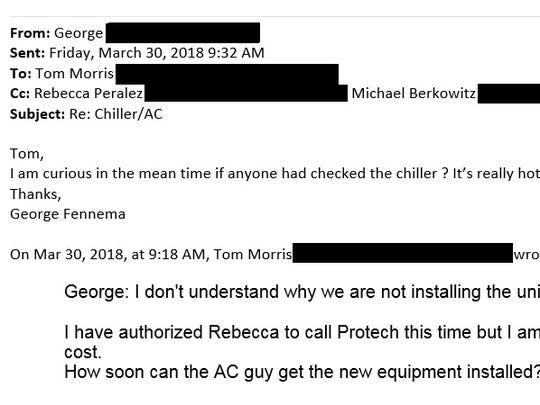 Emails between George Fennema, owner of Chelsea's Pub