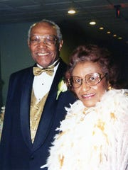 Ruth Benn and her late husband, Grady Benn, pose for