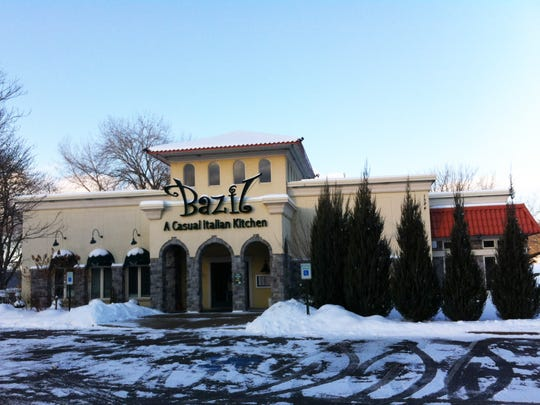 Bazil is at 1384 Empire Blvd., Penfield. The décor is the Tuscanesque style common in Italian chain restaurants, with arched doorways, walls of stone and painted faux textures.