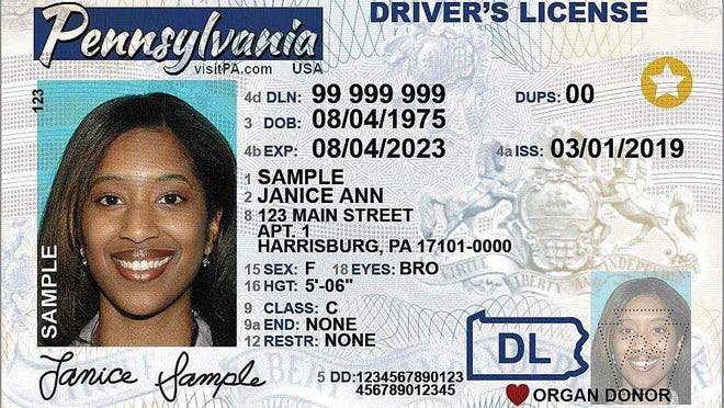 This is a sample of Pennsylvania's new Real ID driver's license. The star in the upper right differentiates it from a standard driver's license.