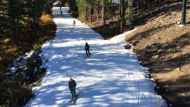 Mt. Rose Ski Tahoe opened for the 2017-18 season on Nevada Day.
