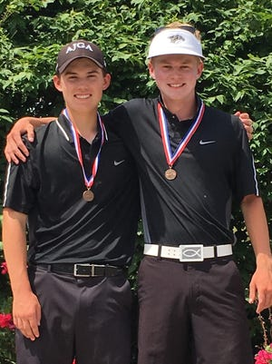 Plymouth seniors Justin Kapke (left) and Jack Boczar were all-state recipients at the D1 boys golf state finals. Kapke was the runner-up while Boczar tied for fifth place.