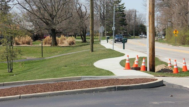 Green Township will continue to extend the sidewalk along Bridgetown Road in the coming weeks.
