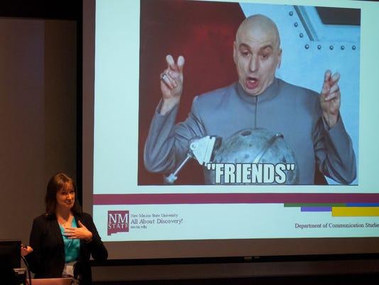 Brianna Lane gives talk on Facebook at NMSU