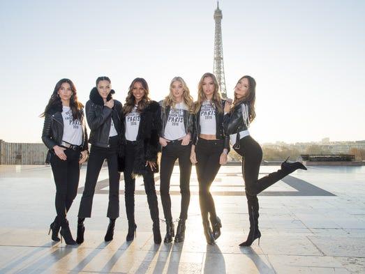PARIS, FRANCE - NOVEMBER 29:  (L-R) Lily Aldridge,
