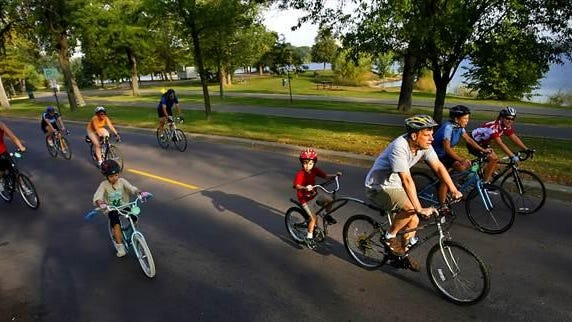 Hop on your bike and tour Minneapolis.