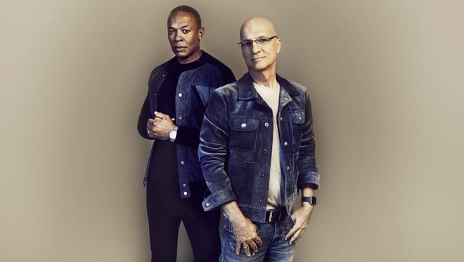The alliance between Dr. Dre, left, and Jimmy Iovine is at the center of HBO docuseries 'The Defiant Ones.'