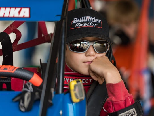 "Thomas ""Elvis"" Prychka waits to race in the Senior"