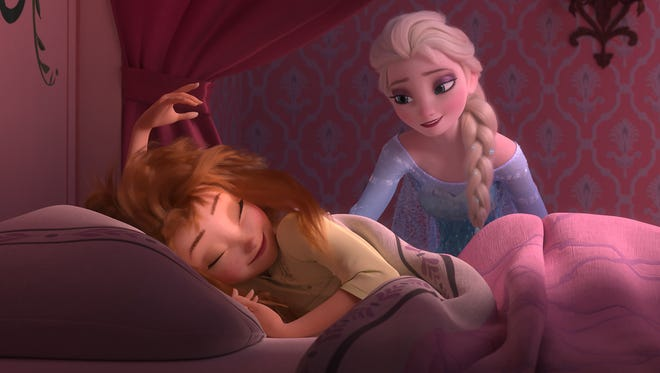 Anna wakes up to a very special birthday party hosted by big sister Elsa in 'Frozen Fever.'