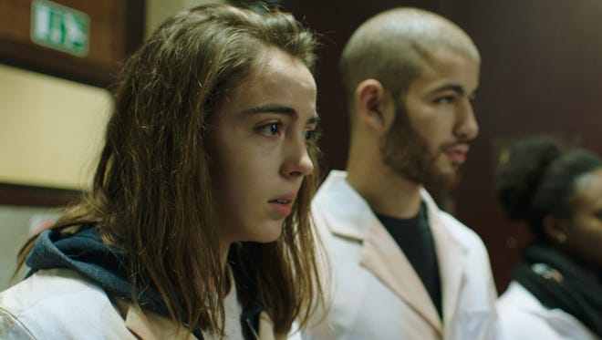 """In """"Raw,"""" Justine (Garance Marillier) is a student at a veterinary school who nurses feelings for her classmate (Rabah Nait Oufella)."""