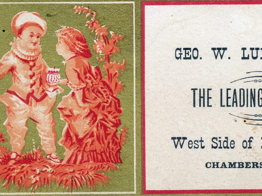 A trade card from George Ludwig Jewelry Company, circa 1880.