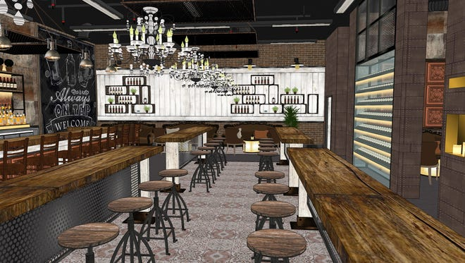 A rendering of the White Rabbit speakeasy bar, opening this fall in Gilbert.
