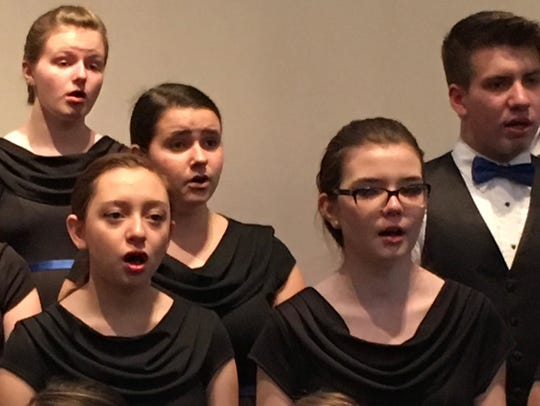 Some  of the members  of the ChildrenSong youth choir