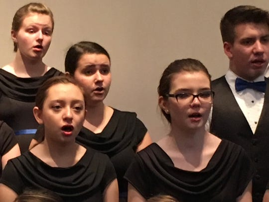 Some  of the members  of the ChildrenSong youth choir from Haddonfield sing at an international  music festival in Dobiacco, Italy, this week.