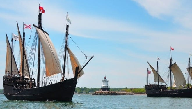 Replicas of the Nina and the Pinta are docked at Owensboro and are available for tours for the next week.