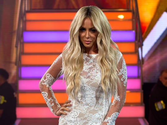 Aubrey O'Day enters the Big Brother House as Celebrity Big Brother launches at Elstree Studios on July 28, 2016 in Borehamwood, England.