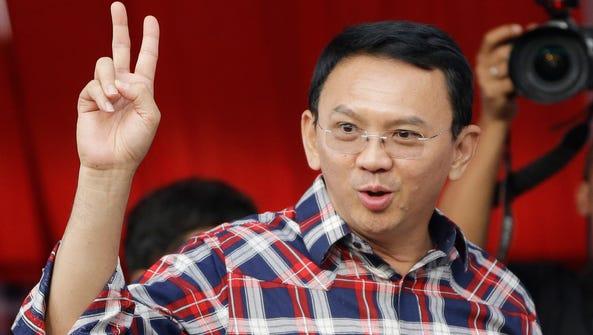 Incumbent Jakarta Governor Basuki Tjahaja Purnama,