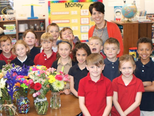 The first-graders of New Hope Christian School showered