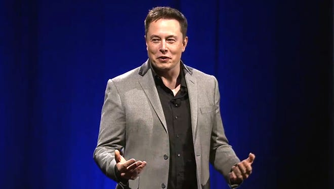 "Tesla Motors CEO Elon Musk alluded to the company;s Nevada battery plant as ""Gigafactory 1"" during the unveiling of its Tesla Energy storage batteries."