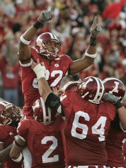 James Hardy celebrated his touchdown reception in the
