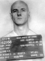 Prison mugshot of Roy Harper released when he and John