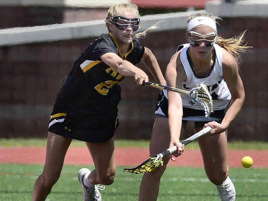 HF-L graduated key players in Caitlin Muir, Brittany Chamberlain and Maria Villanti, but Payton Reed, left, is among seven returning starters. She had 28 goals and 11 assists last spring for the Class C state runners-up.