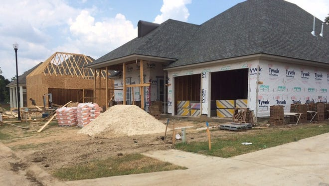 New homes constructed off West Broussard Road.
