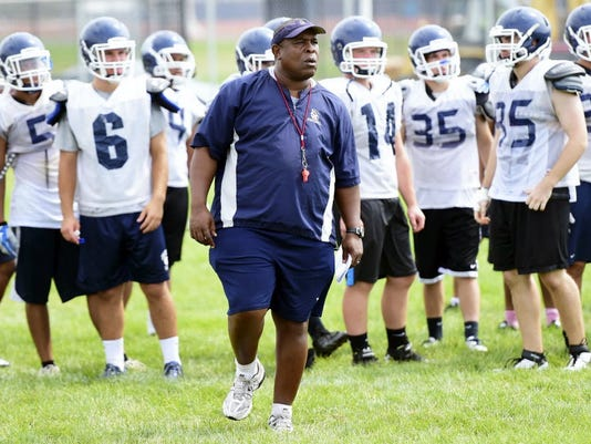 Chambersburg football coach Mark Saunders, pictured in 2014, has resigned.