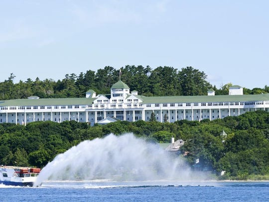 The Grand Hotel on Mackinac Island is pictured Tuesday, July 10, 2012. The historic hotel celebrated it's 125th anniversary Tuesday.
